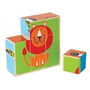 Hape-Wooden Zoo Animals Block Puzzle