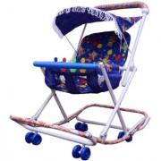 Abasr Baby Kids Multicolour 2 In 1 Walker Blue Fancy