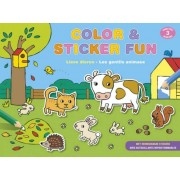 Deltas kleur en stickerboek color & sticker fun: lieve dieren