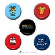 Set of 5 - Food Merchandise - Food Pin Badge + Fridge Magnet (2 in 1) by PrintOctopus