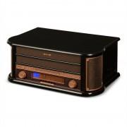 auna Belle Epoque 1908 Retro-Stereoanlage Plattenspieler USB CD MP3 Mikroanlage
