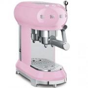 GARANTIE 2 ANI Expresor de cafea SMEG RETRO `50, sistem incalzire thermoblock, 15 bari, sistem antipicurare, panou control facil, rezervor apa 1 litru, putere 1350W, ROZ, ECF01PKEU