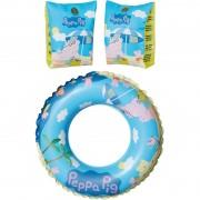 Peppa Pig zwembad speelgoed set zwemband en zwemmouwtjes 3-6 jaar