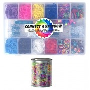 2000+ pc Connect a Rainbow Loom Band Kit with Rubber Bands