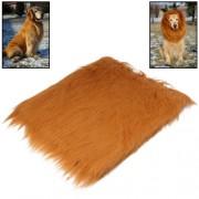 Large Pet Dog Cat Lion Wigs Mane Hair Festival Party Fancy Dress Clothes Costume (Brown)