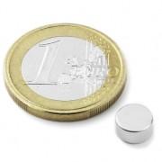 Magnet neodim disc, diametru 6 mm, putere 900 g