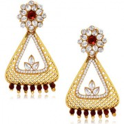 Spargz Designer Hanging Earring in Gold Finish AIER 461