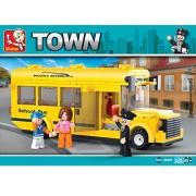 Sluban SMALL SCHOOL BUS-219PCS ( M38-B0507 ) (Lego compatible)