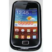 Силиконов гръб ТПУ за Samsung S6500 Galaxy mini 2 Черен