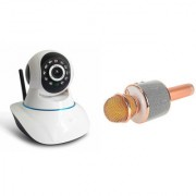Zemini Wifi CCTV Camera and WS 858 Microphone Karake With Bluetooth Speaker for SAMSUNG GALAXY J1(Wifi CCTV Camera with night vision |WS 858 Microphone Karake With Bluetooth Speaker)