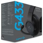 Слушалки Logitech G433 Black Wired USB