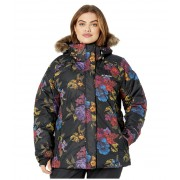 Columbia Plus Size Lay D Downtrade II Jacket Black Floral Print