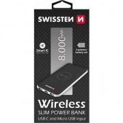 SWISSTEN, POWERBANK, Li-Pol, 5V, 8000mAh, încărcare telefoane și alte dispozitive, încărcător de telefon fără fir, negru