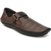 Lee Peeter Men's Multy Brown Stylish Roman Sandals