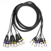 Adam Hall Cables 3 m Multicore Kabel 8 x XLR male auf 8 x 6,3 mm Klinke stereo Adam...