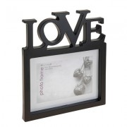 Fotolijst Love zwart 10x15 cm