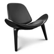Design Town Krzesło inspirowane proj. Shell Chair - All Black