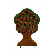 ABC Kids World Small Apple Learning Tree with a Set of Capital, Small and Numbers Apples