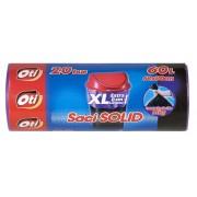 Saci menajeri, 60L, violet, 20 buc/rola, OTI Solid