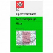 DAV 5/2 Karwendelgeb. Mitte Carta escursionistica