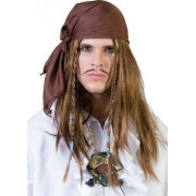 Peruca petrecere pirat cu bandana - Cod 57502
