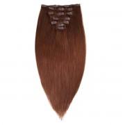 Rapunzel® Hair extensions Clip-on Set Original 7 pieces 2.0 Dark Brown 30 cm