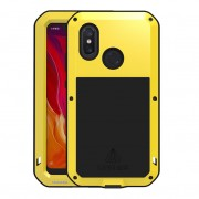 LOVE MEI Dust-proof Shock-proof Splash-proof Defender Phone Casing for Xiaomi Mi 8 (6.21-inch) - Yellow