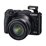 Canon EOS M3 24.2 Megapixel Mirrorless Camera with Lens - 18 mm - 55 mm - Black