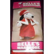 "Peanuts Snoopy Sister Belles Wardrobe For 15"" Plush Belle Mrs. Santa Claus Christmas Outfit"