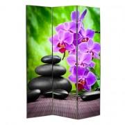Paraván Orchideák és Kövek