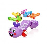 M-Alive Wind Up TURNTED TOGETHER COLORED CATERPILLAR Non Toxic Battery Free Toy