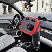 AD906 Draadloze Bluetooth Fm-zender Mp3-speler Adapter Carkit Lader, met handsfree bellen, Muziekspeler, USB-oplaadpoort, Ondersteuning TF-kaart