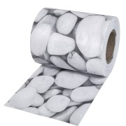 tectake PVC-insynsskydd - marmorgrus, 35 m