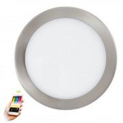 Spot inteligent FUEVA-C, D:23cm, H:3cm, 15,6W-LED-RGB+Alb reglabil, 2000lm, rotund, nichel