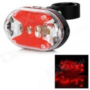 Xm-l luz roja de 9 LEDs 1-Modo de la lampara de cola de la bici con el sostenedor del montaje (2 * aaa)