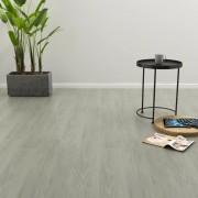 vidaXL Самозалепващи подови дъски, 4,46 м², 3 мм, PVC, сиви