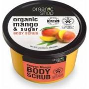 Scrub de corp Organic Shop delicios cu zahar si mango Kenyan Mango, 250 ml