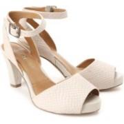 Clarks Women Light Grey Heels
