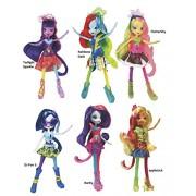 My Little Pony Friendship is Magic Equestria Girls - Rainbow Rocks! Mane 6 Fashion Dolls Basic Collection Bundle: Rainbow Dash, Rarity, DJ-Pon 3, Twilight Sparkle, Fluttershy, Applejack