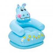 Scaun gonflabil pentru copii Intex, model hipopotam