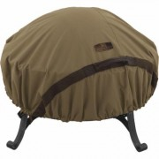 Classic Accessories Hickory Series Fire Pit Cover - Round, 60Inch, Tan, Model 55-198-012401-EC