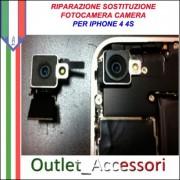 Sostituzione Riparazione Fotocamera Camera Flash per Apple Iphone 4 4S