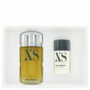 Paco Rabanne XS Eau De Toilette Spray 3.4 oz / 100.55 mL + Deodorant Stick 2.2 oz / 65 mL Gift Set Fragrance 457671