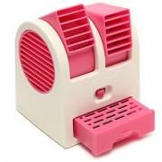 G-MTIN Mini USB Cooling Fan Cooler Portable Desktop Dual Bladeless Air Conditioner USB Cooler Fan