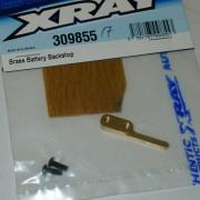 XRay 309855 T4 2017/18/19 Brass Battery Backstop