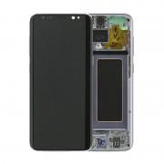 Estrutura para a Parte Frontal e Ecrã LCD GH97-20457C para Samsung Galaxy S8 - Orchid Grey