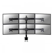 Newstar - FPMA-D700D6 Abrazadera Negro soporte de mesa para pantalla plana