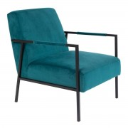 Wants and Needs fauteuil wasakan teal 76 x 60,5 x 76