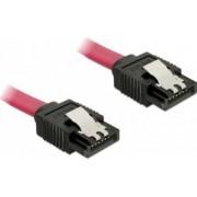 Cablu Date Delock 82676 Sata 3 la Sata 3 30 cm Rosu
