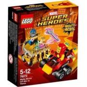 Конструктор Лего Супер Хироус - Mighty Micros: Железния човек срещу Танос - LEGO Super Heroes, 76072